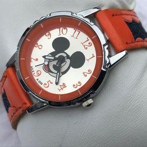 Mickey Mouse Ladies Watch Orange Black Tone Analog